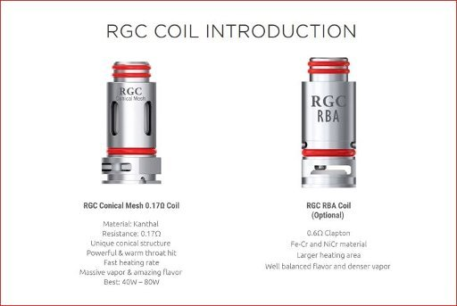 Smok RGC Coil for RPM80/RPM80 Pro/Fetch Pro/Smok RPM160 5PC PKG