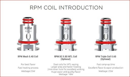Smok RPM Replacement Coil for RPM40/RPM80/Nord2 5PC PKG